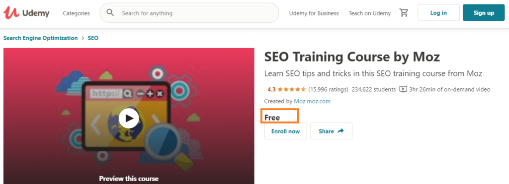 Free SEO Advance Course